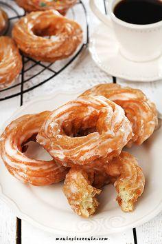 pączki bez glutenu, pączki wiedeńskie bez glutenu, oponki bez glutenu, gluten free french crullers, gluten free doughnuts