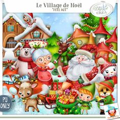 le Village de Noel Egalement disponible chez Digiscrapbooking http://www.digiscrapbooking.ch/shop/index.php?main_page=index&manufacturers_id=129