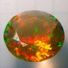 Faceted Ethiopian opal