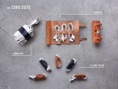 Soooo Coollll - The Tastiest Cord Solution: Cord Taco, Cordito, Cordlupa by Mike Macadaan — Kickstarter Diy Cadeau, Accessoires Iphone, Cord Organization, Leather Projects, Leather Crafts, Leather Design, Leather Accessories, Leather Working, Ipad Case
