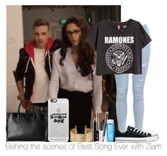 """""""Behind The Scenes Of Best Song Ever With Ziam"""" by hazzgirl03 ❤ liked on Polyvore featuring beauty, Miss Selfridge, Converse, Casetify, Anya Hindmarch, H&M and Lancôme"""