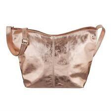 6e60562926d37 Detalles de Italy señora cuero bolso bandolera metalizado bandolera de piel  Bag- ver título original