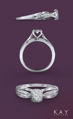 Design. Elegance. Beauty. No detail is left behind in this alluring engagement ring.