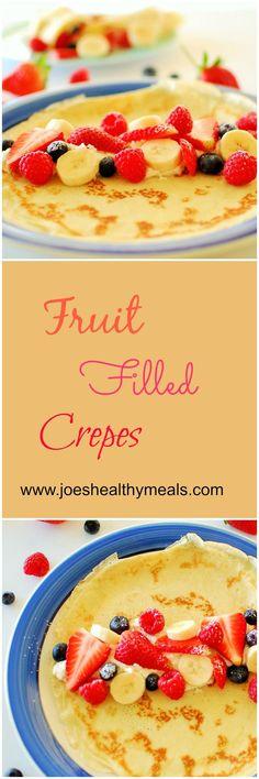 Fresh fruit filled crepes.