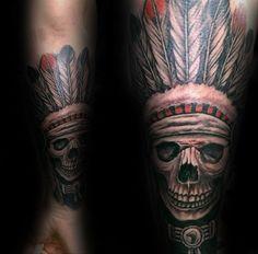 Indian Skull Tattoo Design Ideas