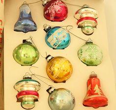 Vintage Christmas Ornaments - Vintage Holiday Decorations - Christmas Tree Ornaments - Christmas Tree Decorations - 1950s Christmas Decor