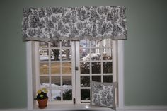 Black Toile Ticking straight Valance Toile is a timeless fabric design that has been in homes for over a century, Made with quality waverly cotton fabric lined with drapery lining, measures 15x 72 fits any standard size window 30 up to 45 wide, $38.99