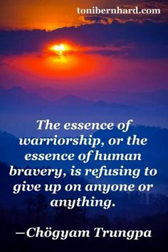 Human bravery.