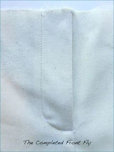How to sew a working front fly on pants, shorts, etc.