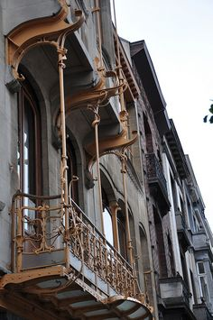 Miniature Endeavors: Window Drama Channeling Victor Horta
