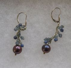 $4.00 Silver 'Brown' Pearl Earrings (9915-1442MS) jewelry, fashion, collectibles #Unbranded #DropDangle