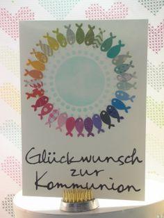 zur Kommunion 2/10  #memorybox #stencil #distressink #inkystamp #rainbow #papersmooches