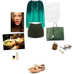 greeny blue sweater