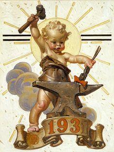 Saturday Evening Post cover art by JC Leyendecker, 1931