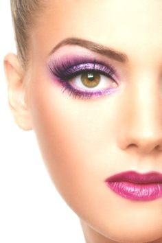 25 Gorgeous Pink Eye Make-up Seems for 2020 Pink Eyeshadow, Pink Lipsticks, Magenta, Pink Purple, Mascara, Pink Eye Makeup Looks, Night Makeup, Professional Makeup Artist, Black Eyeliner