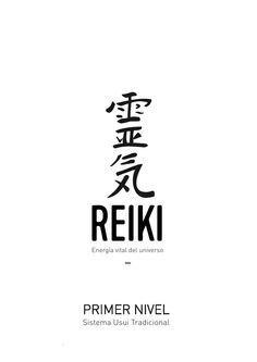 "Manual de Primer Nivel de Reiki Diseño editorial realizado para la escuela de Reiki ""Reiki Forest"""