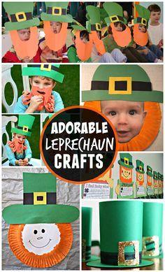 Leprechaun Crafts - Fun St. Patricks Day crafts for kids to make! | CraftyMorning.com