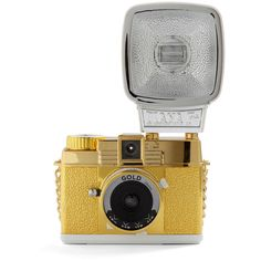 Lomography Diana Mini Gold Edition ($130) ❤ liked on Polyvore featuring camera, fillers, accessories, backgrounds and gold
