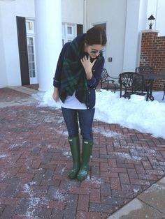 633da2bbf green hunter boots outfit - Google Search Green Hunter Boots