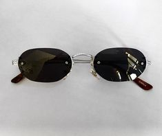 b479af7da13 Tiny 90 s Vintage Rimless Oval Sunglasses Oval Sunglasses