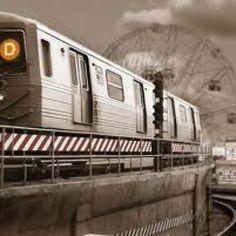 Brooklyn: Coney Island D train leaving Stillwell Ave