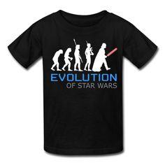 Evolution of Star Wars Men's Gildan Black