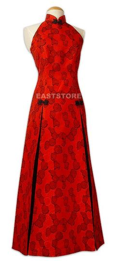 Unique and elegant, this Red Rose Brocade Wedding Dress features a delicate of roses, it is also...