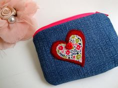 bc102bcc06 Handmade denim change Purse Coin purse small zipper by GerdaBags Denim  Fabric