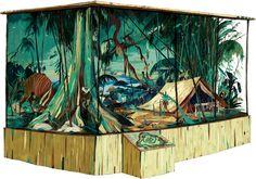 Anton Van Hertbruggen DIORAMA #2 NOCTURAMA / Carl Akeley's bamboo camp. Gyclee print, 160x121cm