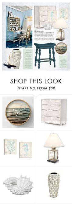 """""""Coastal Home"""" by monmondefou ❤ liked on Polyvore featuring interior, interiors, interior design, home, home decor, interior decorating, Stanley Furniture, Privilege, beach and Home"""