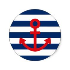 Anchors Aweigh Stickers by Ladiebug Nautical Clipart, Sailor Party, Diy Resin Crafts, Nautical Party, Round Stickers, Custom Stickers, Baby Gifts, Clip Art, Classic