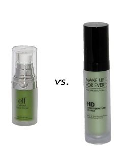 Green vs. Green foundation wars:  Who wins? ELF Mineral Infused Face Primer or Makeup For Ever High Definition Primer?