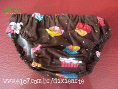 Calçinha Infantil Cupcakes Disponivel nos tamanho P, M e G R$ 30,00