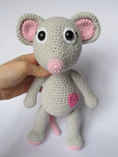 Every child (and not only a child) needs a friend to talk to, to share secrets and play with. Make such a friend with your hands full of love. Crochet a sweet little mouse to be a best friend for your little one or your friend. Detailed instructions and pictures help you to crochet all