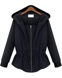 Sudadera con capucha manga larga-negro 20.10