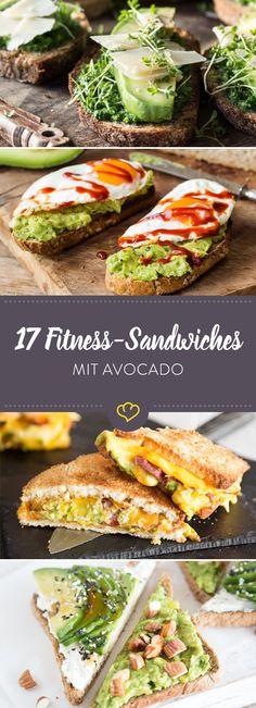 Schluss mit traurigen Stullen aus labbrigem Toast und einer einsamen Scheibe Käse oder Wurst. Diese 17 Avocado Sandwiches sind dein neuer Fitness-Snack.