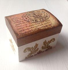 Decoupage - jewellery box