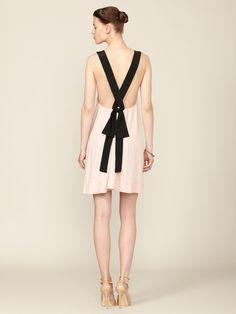 Imitation Myrtle Cross Back Tie Dress