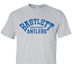 High School Impressions search HS-128-W; Antlers Spirit Wear T-Shirts- Create your own design for t-shirts, hoodies, sweatshirts. Choose your Text, Ink and Garment Colors.