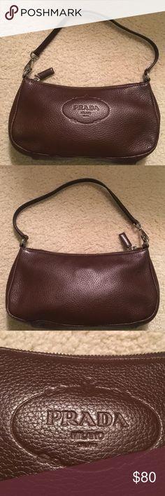 Authentic Prada bag Brown leather tiny fade mark on back Prada Bags Mini Bags
