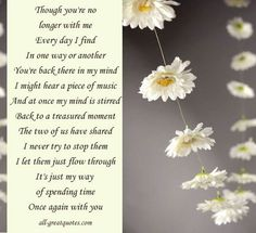 Memories Of A Loved One Quotes Interesting Love Poem For Dead Husband  Loss Of Loved One Sympathy Poem Loss