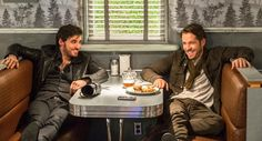 @sean_m_maguire & @colinodonoghue1 on @OnceABC set. Season 5 premieres in 1 month (9/27) on @ABC! @OnceUponAFan #OUAT