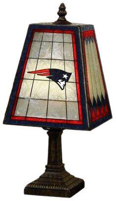 NFL 14 Inch Art Glass Lamp $49.11