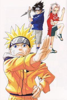 Masashi Kishimoto, #Naruto, Uzumaki (Artbook), #Sasuke Uchiha, #Sakura Haruno