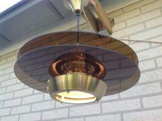 Hanglamp. Aluminium en plexiglas. Merk: Lakro Amstelveen.