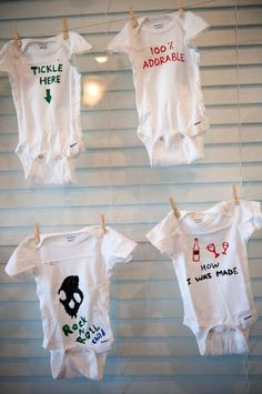 Baby Shower Onesie Decorating Ideas | Precious Moments Inspired Onesie Baby  Shower Party Planning Ideas