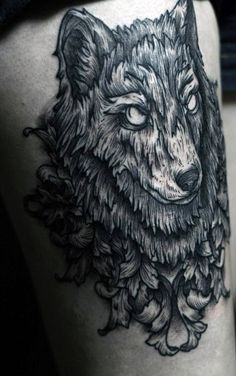 Venture through the woods and discover 70 wolf tattoo designs for men. Explore ideas like geometric outlines and classic lone wolves howling at the moon. Wolf Pack Tattoo, Tribal Wolf Tattoo, Wolf Tattoo Design, Wolf Design, Wolf Tattoos, Get A Tattoo, Tattoo Shop, Sketchy Tattoo, Wolf Skull