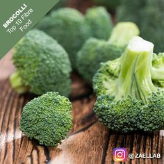 Top 10 Fiber Food  Broccoli  Like Spread & Share    1cup of chopped Broccoli contains 2.4g of Fiber.  Recommended Dietary Allowance for Fiber is 38g/day for men and 25g/day for women. The Daily Value is 15g/day for average adult.  Fiber benefit 10: Helps control blood sugar levels reduce the risk of developing type 2 diabetes.    Many processed foods including cereals and breads have added fiber. These sources of fiber used in for this supplementation are not the healthiest. It is much…