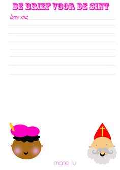 Wil je een brief schrijven aan de Sint of een verlanglijstje samenstellen? Gebruik dan het Sint briefpapier! #Sinterklaas