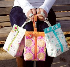 Suzy's Sack sewing pattern designed by Sherri K. Falls of This & That Patterns is a clever little bag bursting with personality.